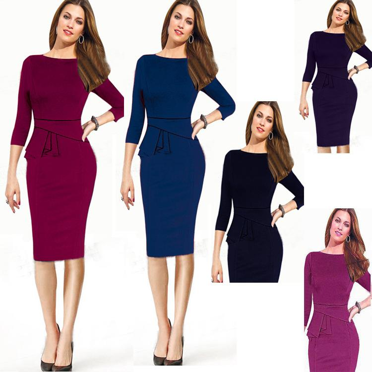 Online Cheap Womens Clothing Work Dresses Autumn Spring Winter Plus