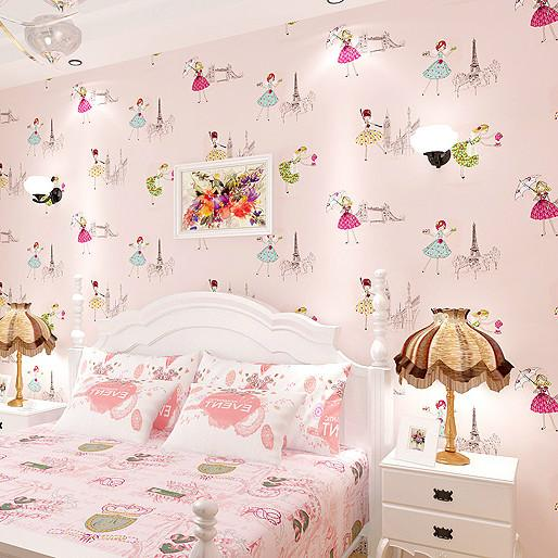 Childrens cartoon wallpaper nonwoven wallpaper girls room pink childrens cartoon wallpaper nonwoven wallpaper girls room pink blue purple wallpaper beauty salon clothing store wallpapers free hd wallpapers girls from voltagebd Image collections