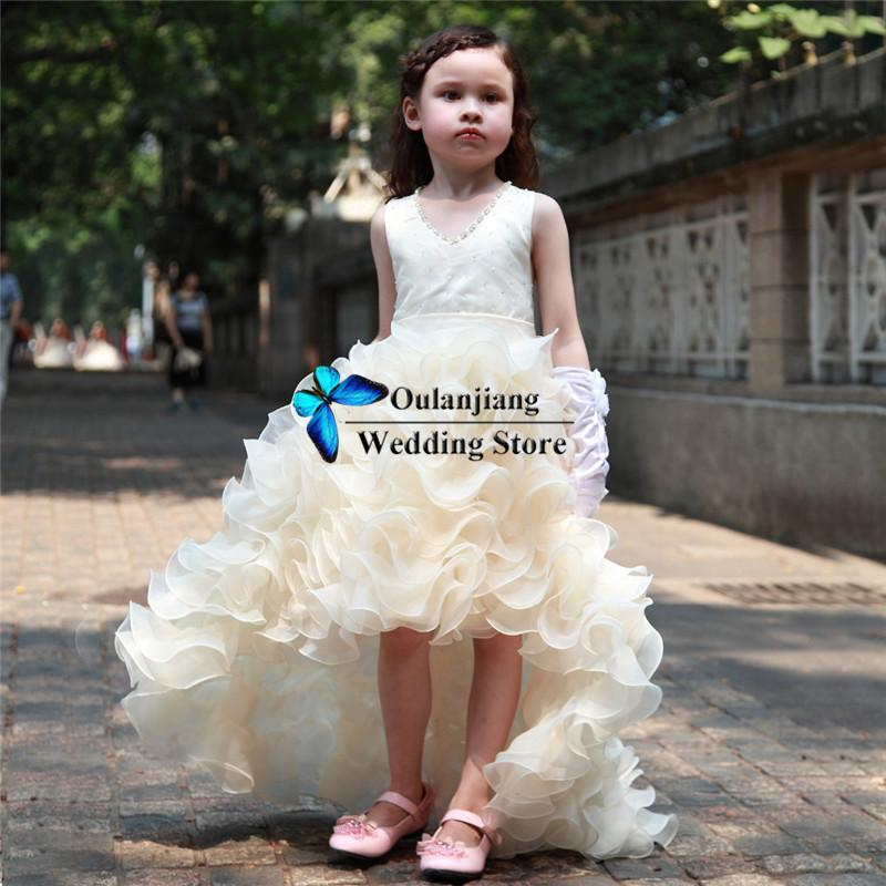 Ivory color dress for girls