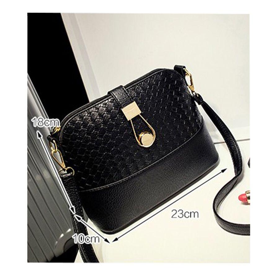High quality fashion knitting patchwork messenger bag special metallic hasp women bag shell shoulder bag dollar price