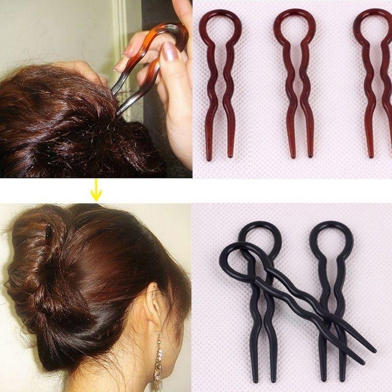 Fine U-type Hairpin Dish Outils de coiffure rapide de cheveux
