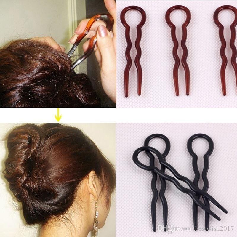 Herramientas finas para el peinado del cabello en forma de U, tipo horquilla, 3 piezas
