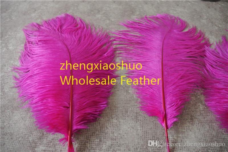 Envío gratis-prefecto Natural hot pink avestruz Feather 10-12 pulgadas, decoración de la boda centro de mesa decoración del partido evento fuente