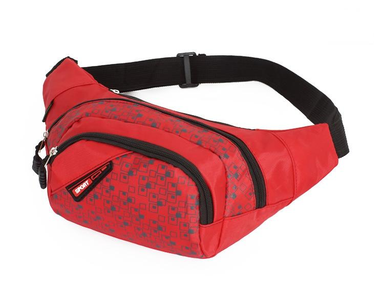 패션 새로운 스타일 Unisex 스포츠 화니 팩 여행 지퍼 허리 가방 레저 실행 하이킹 사이클링 달리기 피트니스 의학 작은 주머니 가방