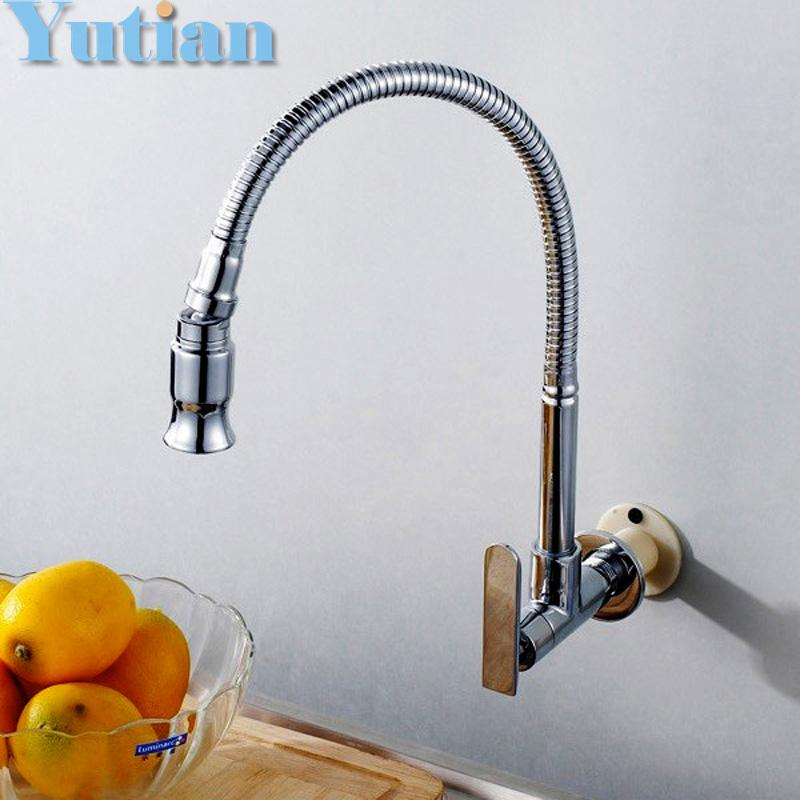 2018 Wholesale In Wall Mounted Brass Kitchen Faucet. Fold Expansion. Diy  Kitchen Sink Tap.Washing Machine Faucet Torneira Yt 6011 From Copy02, ...