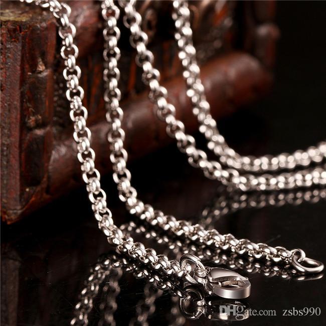 2015 nouveau design chaîne en acier inoxydable collier 2.5 MM 18-24 pouces Top qualité mode bijoux livraison gratuite