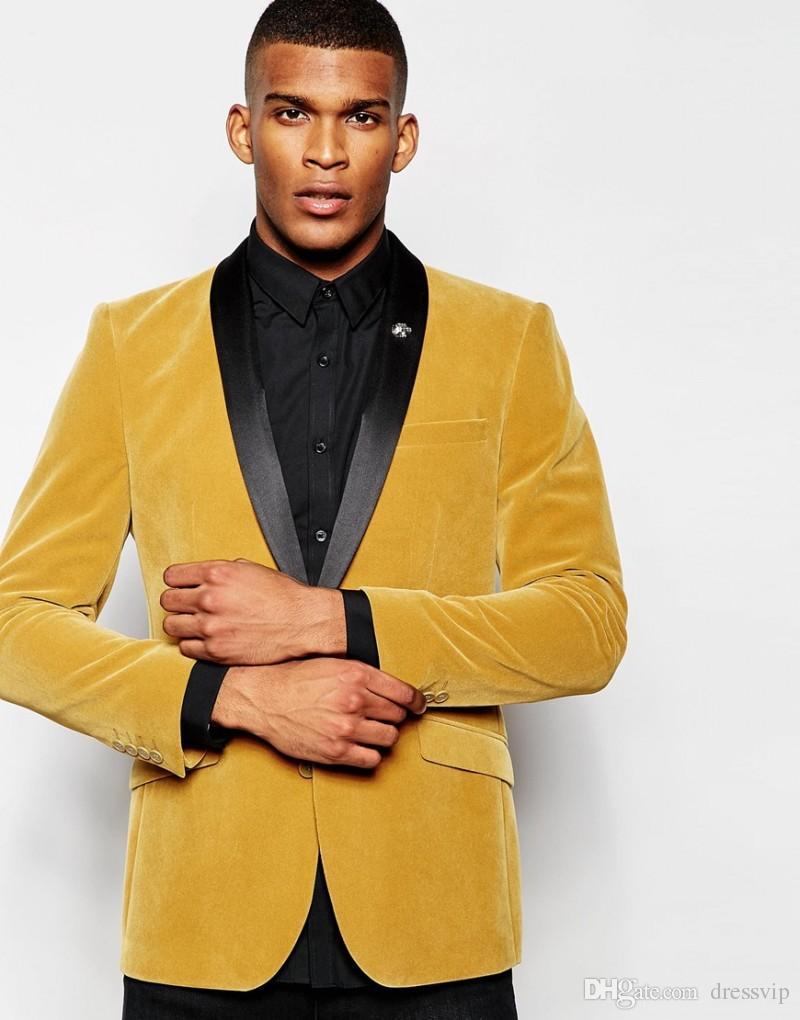 Compre Alta Qualidade Yellow Jacket Noivo Smoking Melhor Homem Mens Ternos  De Casamento Noivo Desgaste Mens Roupas Blusão Homens Jaqueta De Inverno Um  ... 7925b9dbaf3
