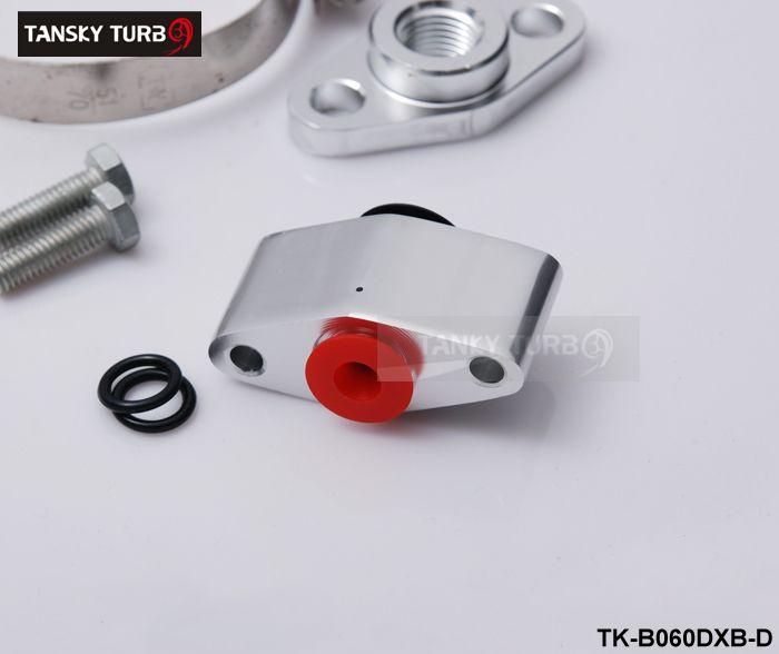 Tansky - Complete Turbo Oil Line Inlaat Afvoer Return Kit met Sensor T3T4 T3 T4 T70 T04S T04Z T4E TK-B060DXB-D