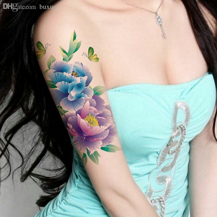 Großhandel Wholesale Gold Tattoo Blume Arm Tätowieren Wasserdichte