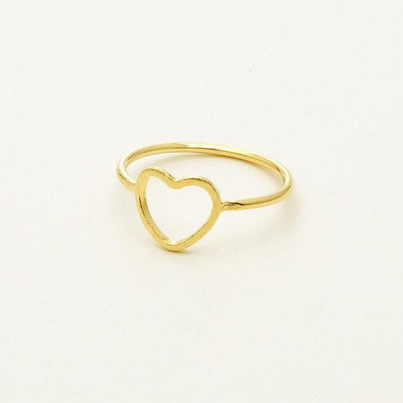 New Arrivel Rose Gold Plated Simple Alloy Heart Ring Engagement