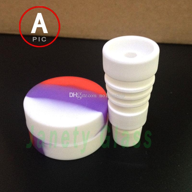 2015 년 새로운 유리 흡연 세트 세라믹 돔형 및 왁스 항아리와 티타늄 dabber와 탄수화물 모자