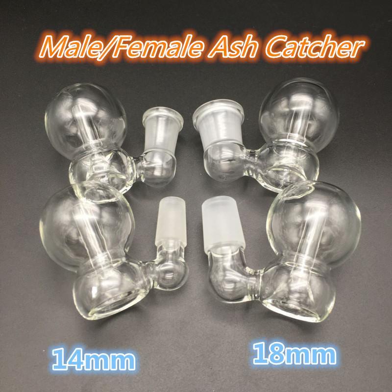 ciotole di catcher di cenere con boller maschio femminile maschio 10mm 14mm 18mm vetro giunto perc ashcatcher narghill bongs petrolifera