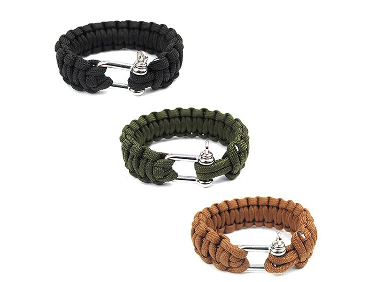 Cobra PARACORD BRACELETS KIT Military Emergency Survival Bracelet Charm Bracelets Unisex U buckle