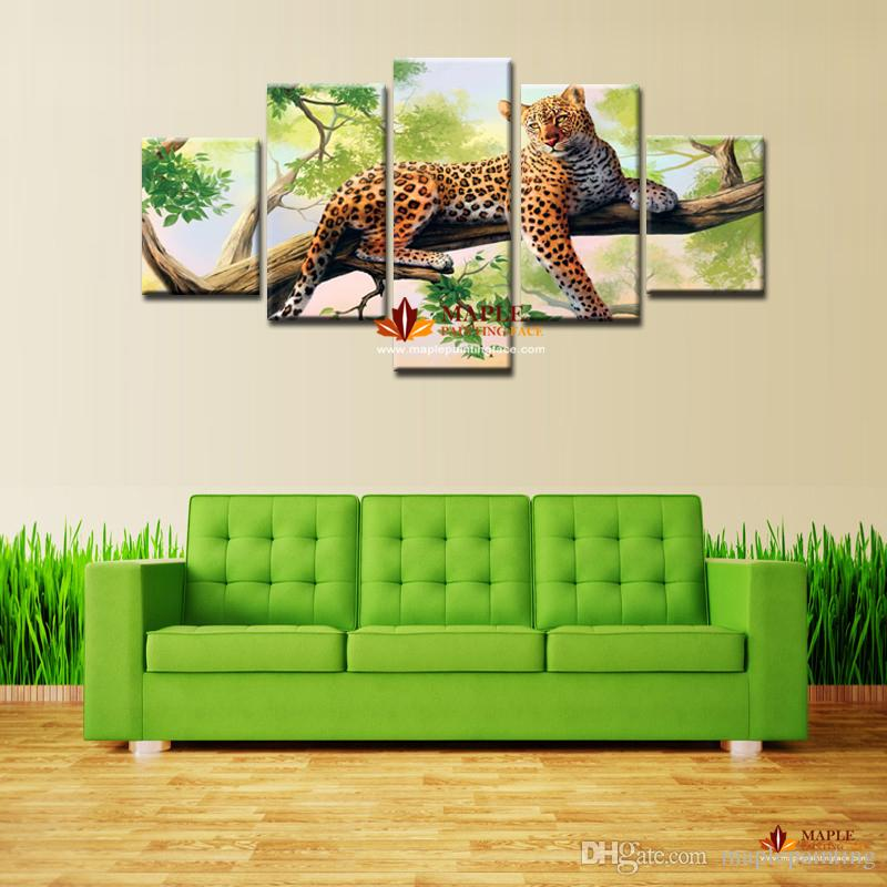 Canvas Art Wall Unframed leopard Picture Print Painting Modern Canvas Wall Art for Wall Decor Home Decoration Artwork