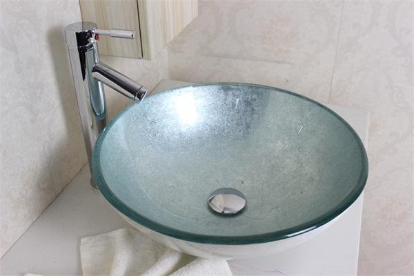 2017 Silver Foiled Round Art Tempered Glass Vessel Sink With Chrome Faucet  Set N 564 From Vtsanitary, $145.73 | Dhgate.Com