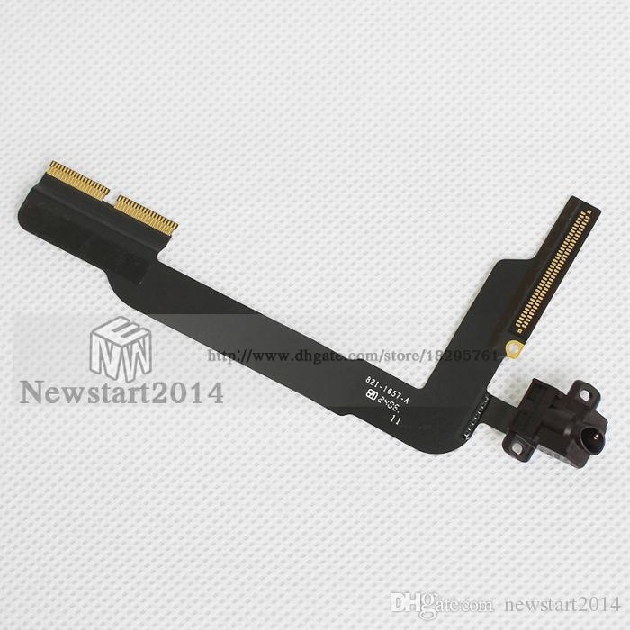 for iPad 3/4 High Quality 100% Tested Headphone Earphone Audio Jack Flex Cable Replacement Spare Parts