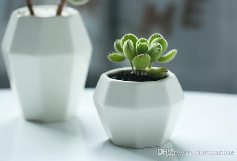 Белые керамические горшки для цветов вазоны украшение дома простые настольные вазы для цветов декора