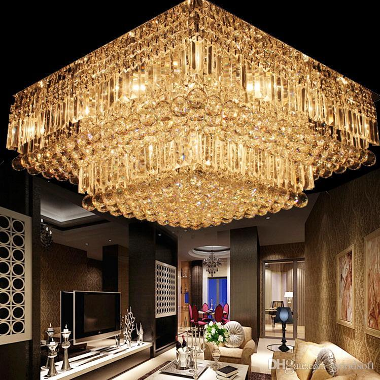 Modern K9 Crystal Ceiling Chandelier Clear Crystal Lighting