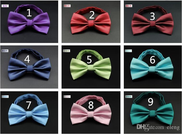 NEW Fashion Arrival Wedding Double solid color Bowties Men's Ties Men's Bow ties Men's Ties Many Style Bowtie Groom bowtie groom bowtie R02