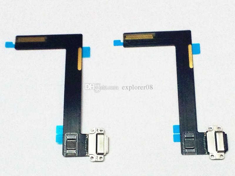 For ipad 6 Air 2 Charging Charger Port USB Dock Connector Flex Cable Black White Replacement Parts