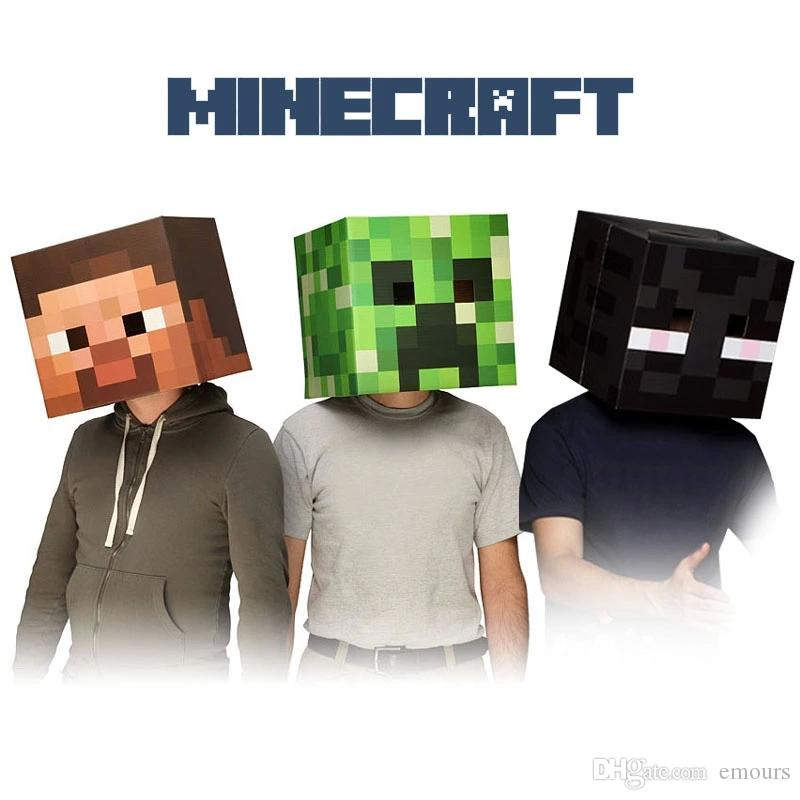Official Minecraft 12 Steve u0026 Creeper Exclusive Head Costume Bauta Mask Halloween Christmas Party Fancy Dress Cosplay Film Full Face Mask Realistic ...  sc 1 st  DHgate.com : printable minecraft costume  - Germanpascual.Com