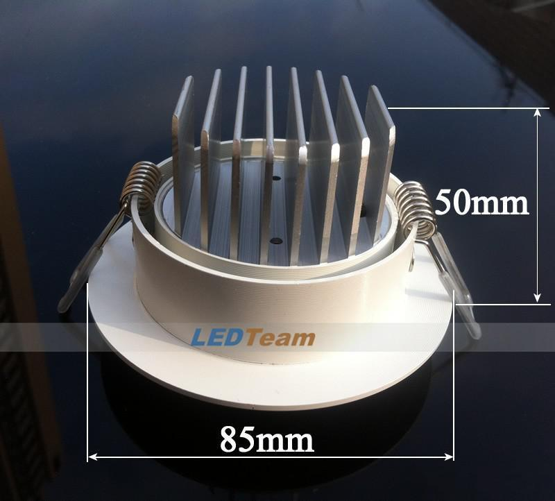 2015 New Arrival Dimmable 9W COB Led Fixture Ceiling Downlight 110-240V High Quality Led Down Light Pure/Warm White CE