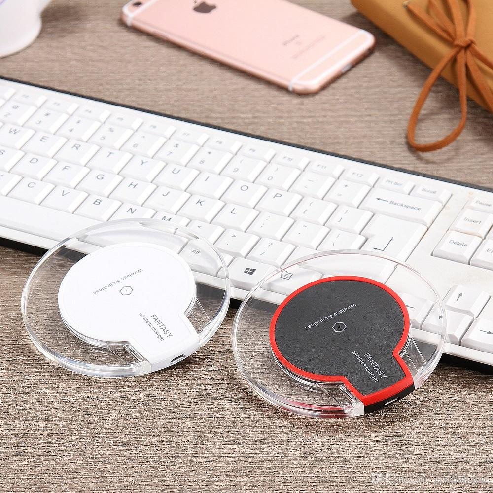 Qi Wireless Charger Charging For Samsung S6 Edge s7 edge Fantasy High Efficiency pad for samsung mobile with retail package