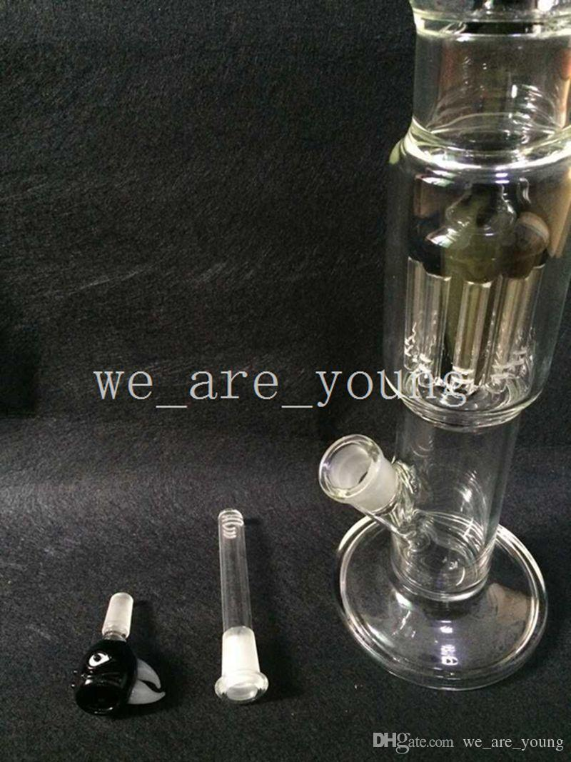 2015 New Large 23 inch Glass Bongs High-end Super Quality Glass Water Pipes with double layer 10 Arm Tree Percolator Bongs