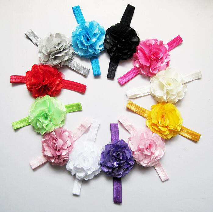 Sale Net yarn flower hair ribbon baby headband,girls hair accessories,fashion cheap jewelry,charm princess headwear jewellery..QF