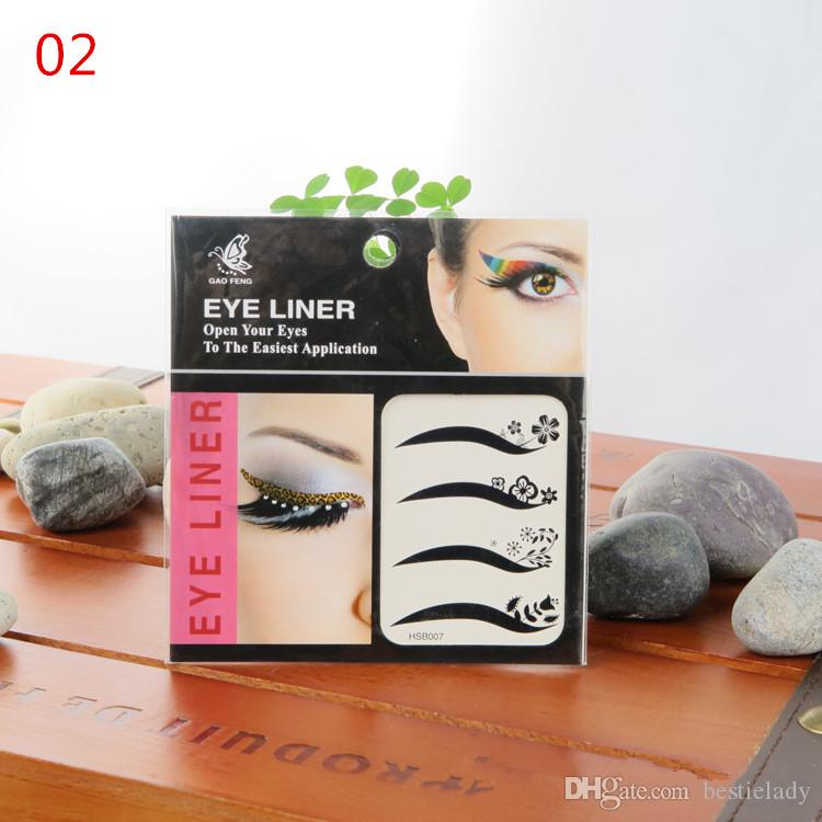 10 pacotes de Moda Liner Eye Adesivos Tattoo aplicação segura Não tóxico Random Enviar