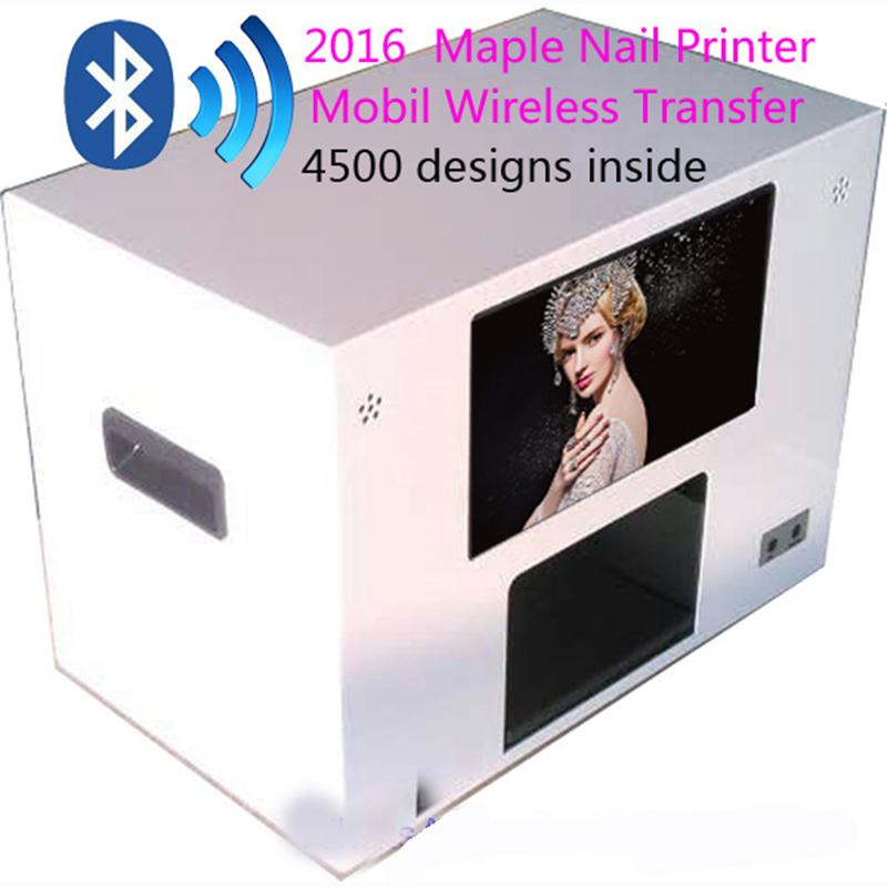 Wholesale 2017 Maple Nail Printer Machine Digital Flower Mobile Wireless Transfer 4500 Designs Inside DHL Or EMS Online With