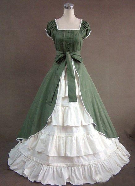 2018 Civil War Dress Gothic Lolita Dress Victorian Princess Dress ...