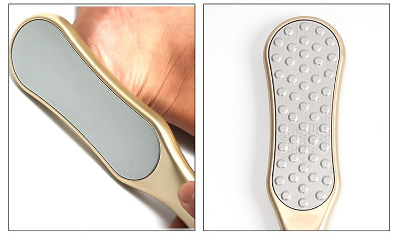 / d'or fichier Pied pour Pédicure Râpe Râpe pour les pieds Remover ongles des pieds en acier inoxydable de luxe de manucure Outils de haute qualité