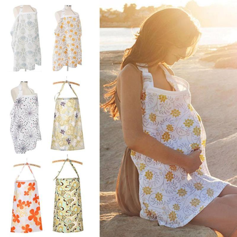 Wholesale- Breathable nursing cover Cotton Muslin Breastfeeding nursing cloth apron Cart Cover High Chair Covers for baby feeding R4
