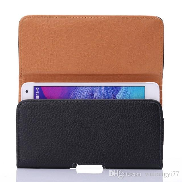 Universal Horizontal Man's PU Leather Holster cellphone Pouch Case with Belt Clip for iphone 6s plus and more other cellphone