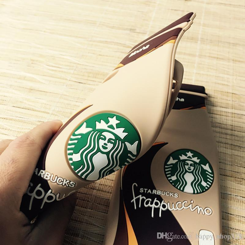 3D Starbuck frappuccino Mocha Coffee Cup Silicone case cover for iPhone 5 5S 6 6Plus 6S 6SPlus Cell phone cases