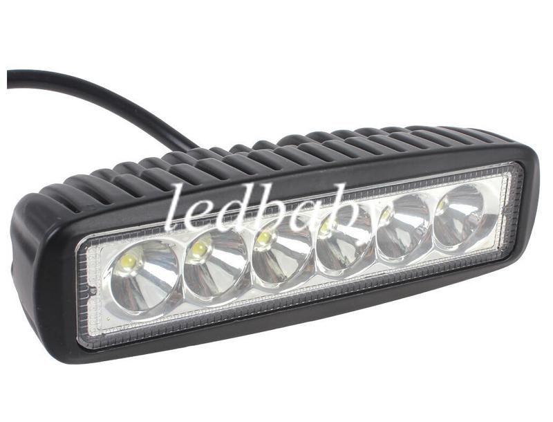 18W CREE LED Work Light Bar JEEP Spot Flood Луч противотуманные фары 12V 24V 6LED * 3W 1600lm IP67 OffRoad мотоцикл грузовик вождение