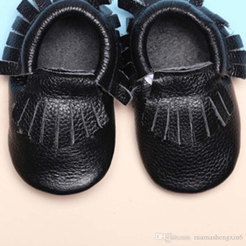 Baby First Walkers Chaussures En Cuir Véritable Bébé Mocassins Semelle Souple Printemps Automne Toddler Enfants Lovey chaussures