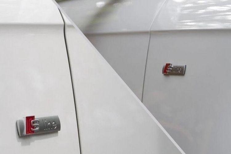 Ligne de voiture 3D Metal S Cover autocollant pour Audi Sline Logo A3 A4 A5 A6 Q3 Q5 Q7 B7 B8 C5 S6 Accessoires de décalque de voiture de bonne qualité