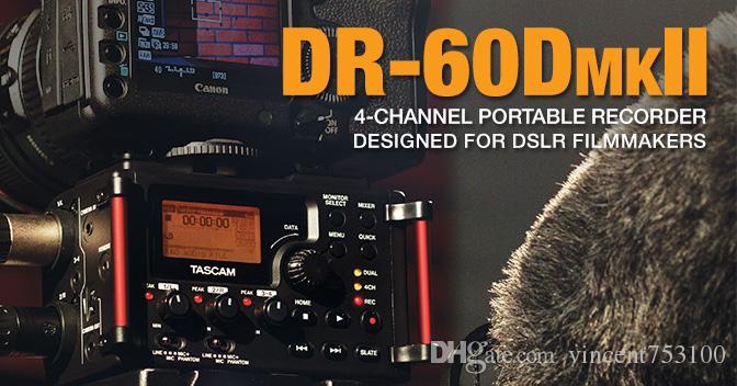 Marca Registrador de mano original Tascam DR-60dmkii profesional Mezclador de PCM grabador lineal DSLR VIDEO SHOOTER para cámara DSLR SLR