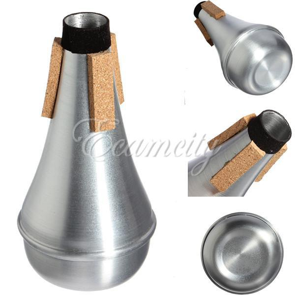 wholesale aluminum practice trumpet straight mute for trumpets instrument jazz music by. Black Bedroom Furniture Sets. Home Design Ideas