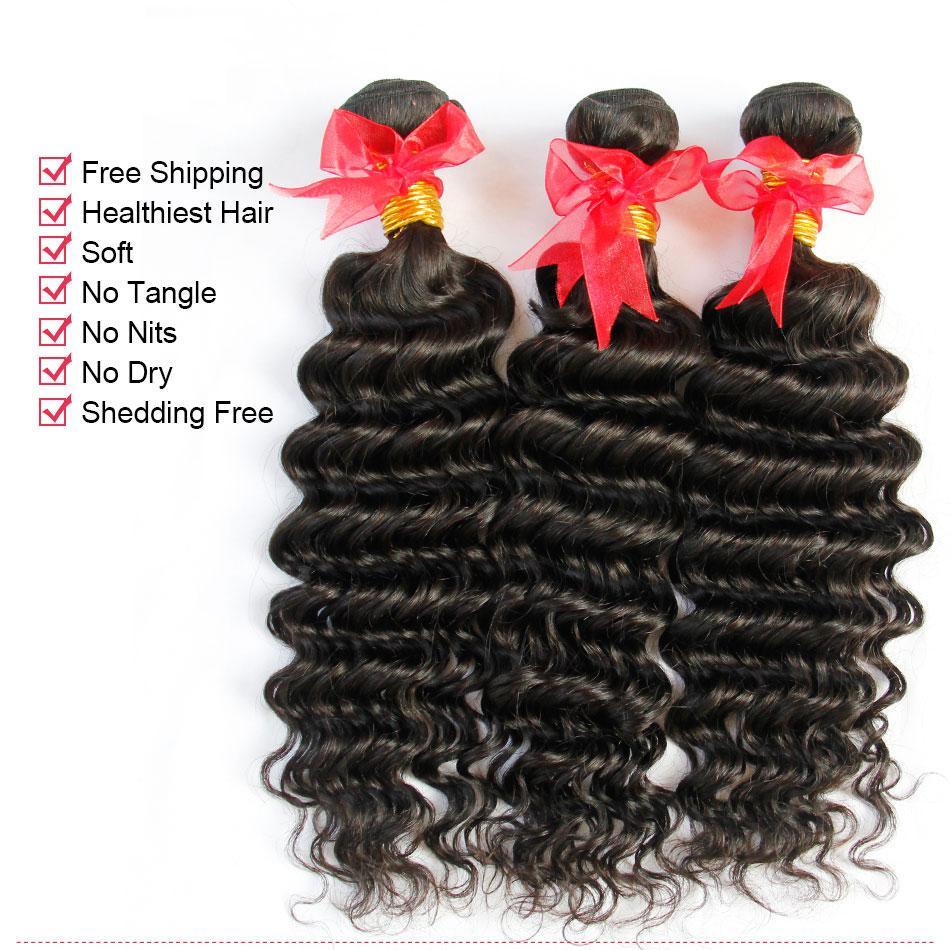 8а перуанский Индийский малайзийский камбоджийский бразильский девственные волосы плетение пучки прямые свободные глубокий объемная волна вьющиеся натуральные человеческие волосы