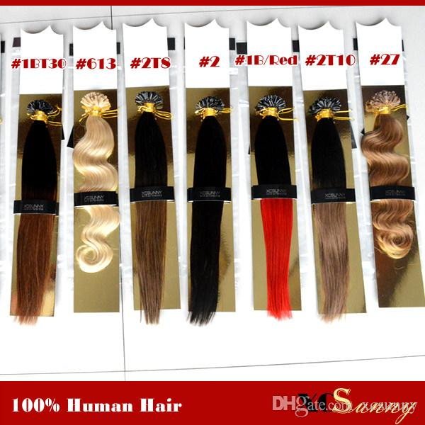 Xcsunny 18 20 U Tip Fusion Hair Extension 100g Bright Color Nail U