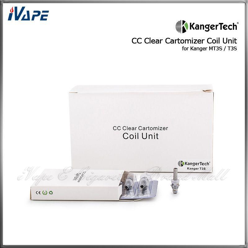 Heißer Verkauf Original KangerTech CC Klar Cartomizer Spule Einheit für T3S MT3S Kanger MT3S T3S Zerstäuber Ersatz Heizschlangen