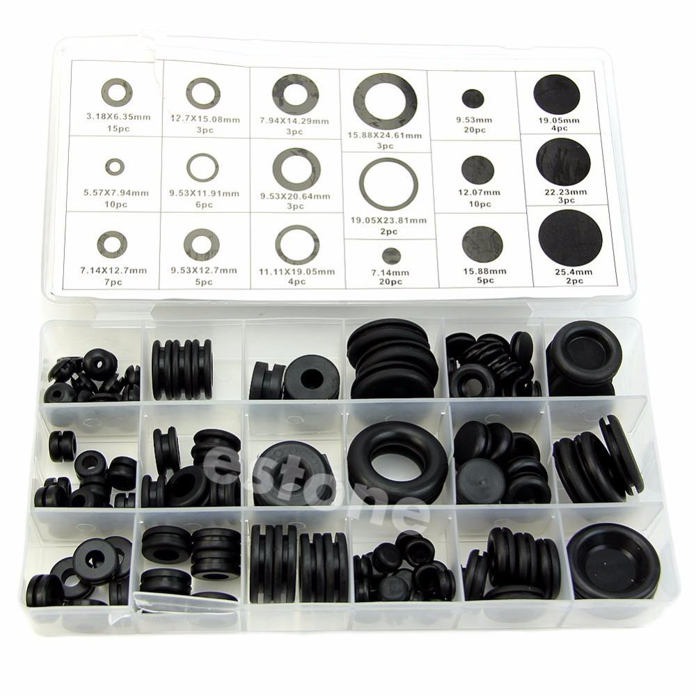 125 Rubber Grommet Firewall Hole Plug Set Electrical Wire Gasket ...