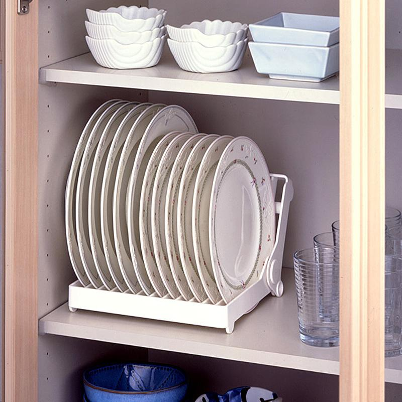 kitchen cabinet plate organizers sell foldable dish plate drying rack organizer drainer 19310