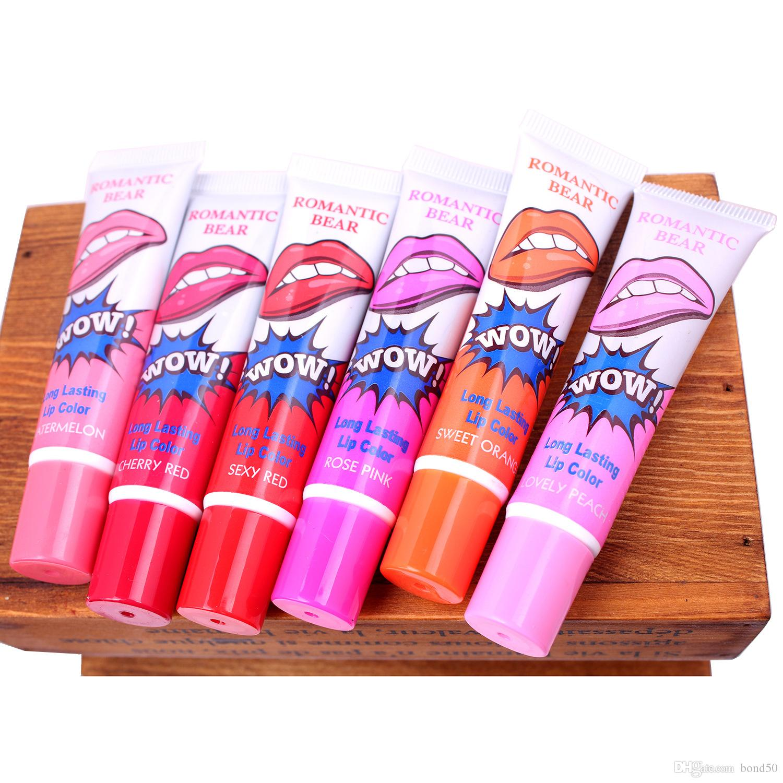 HOT Lip Gloss Peel-off dura 24 ore No Stain Marine Collagene Balsamo Balsamo Pianta Orso Romantico i trucco Idratante Labbro Maschera
