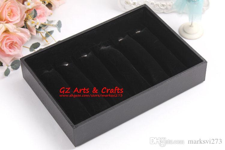 Único-Row anel esponja suporte do anel de jóias embalagem exibe botão destacável anel vara anel caixas de jóias caixa de presente de organza