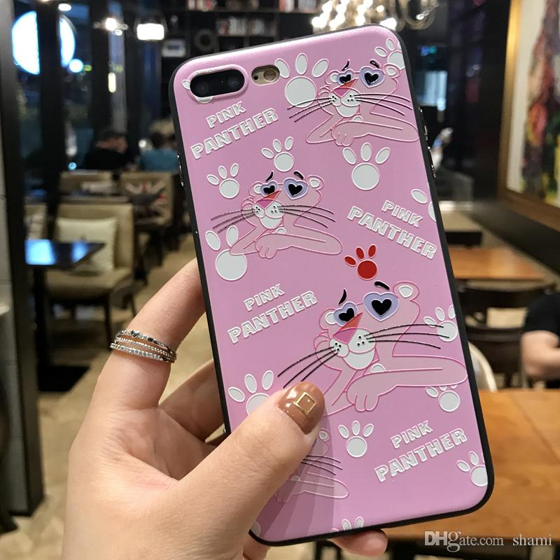 for goophone iPhone X 8 plus caus lagging painting Silk pattern cartoon flower Peacock metal button cover for iPhone 7 6 plus case
