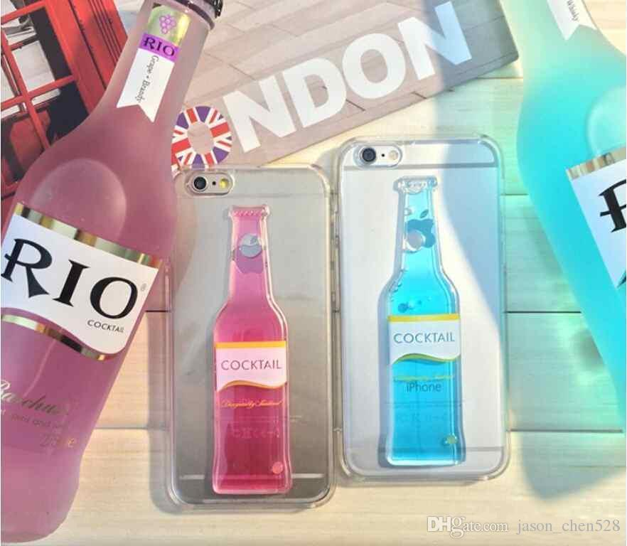3D Red Wine Cup Liquid Transparent Hard Case Cover For iPhone 5 6 6plus Phone Cases Flowing Wine Back Covers DHL SHIPPINE